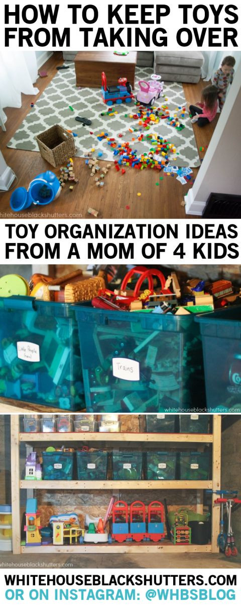 Kids Toy Organizing Ideas  tips on toy organization and storage in a small home