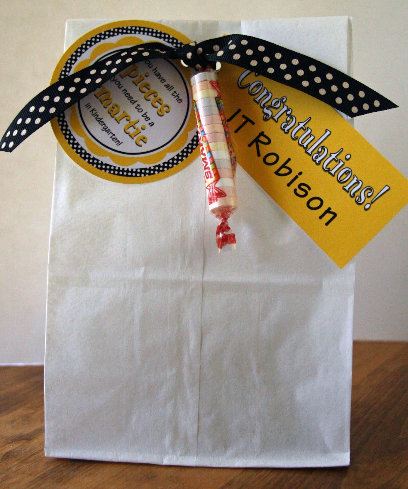 Kindergarten Graduation Gift Ideas  Fun graduation t bag idea for little graduates