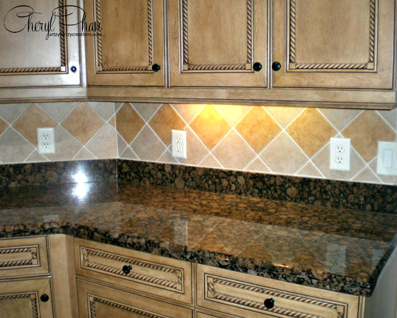 Kitchen Backsplash Outlets  How to Paint and Hide Switch Plates in the Kitchen