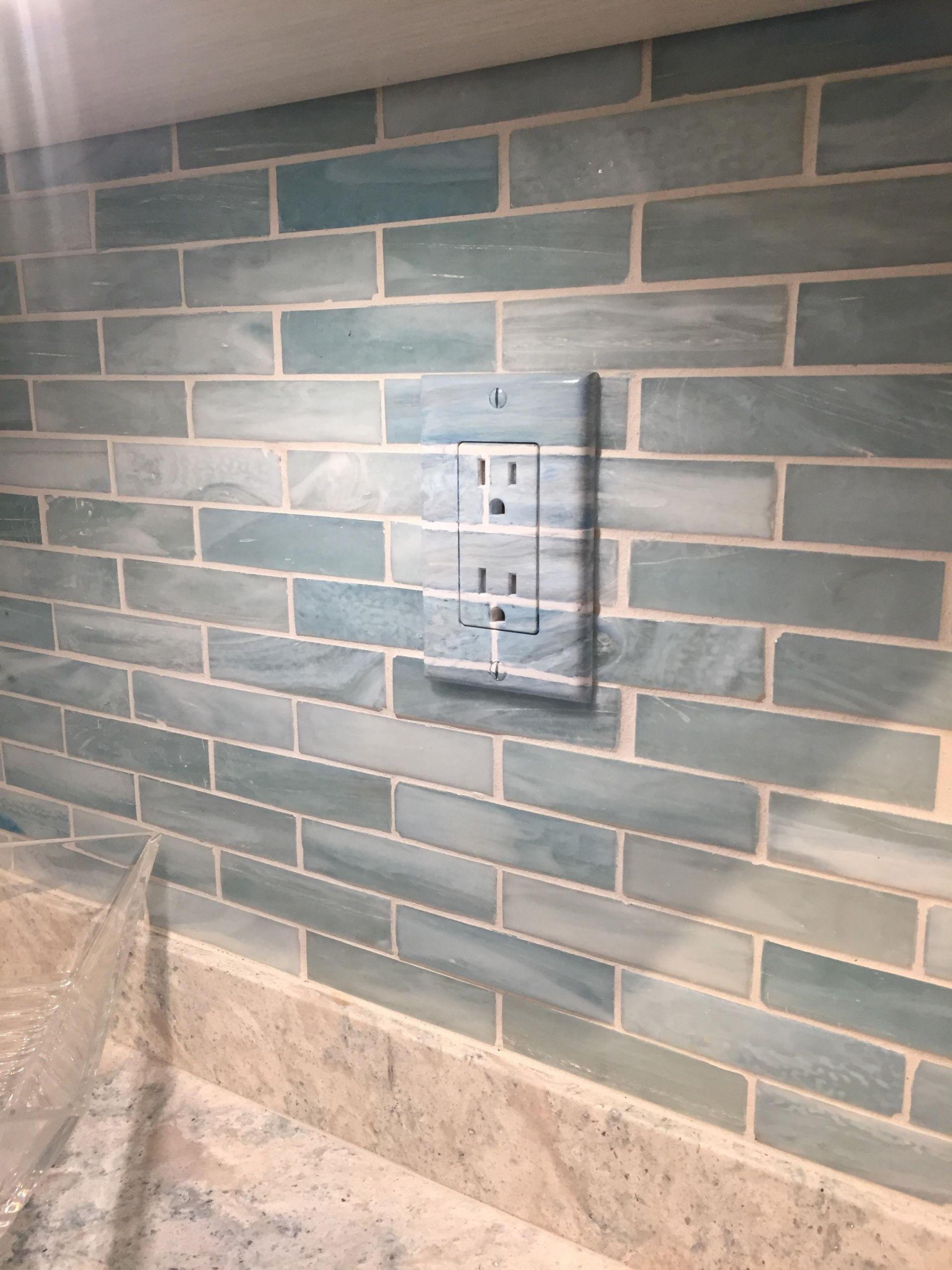 Kitchen Backsplash Outlets  Outlet that blends into tile backsplash mildlyinteresting