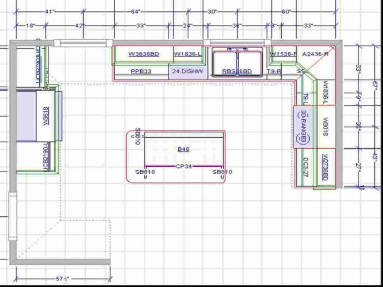 Kitchen Floor Plans With Islands  Kitchen with Islands Floor Plans Kitchen