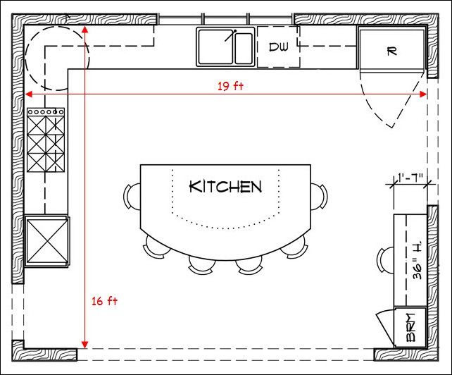 Kitchen Floor Plans With Islands  Kitchen Floor Plans