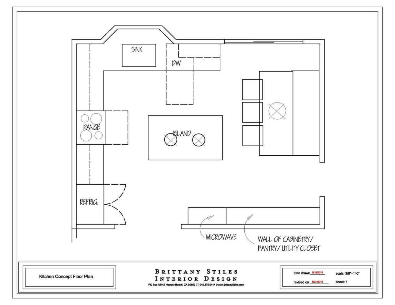 Kitchen Floor Plans With Islands  Detailed All Type Kitchen Floor Plans Review Small