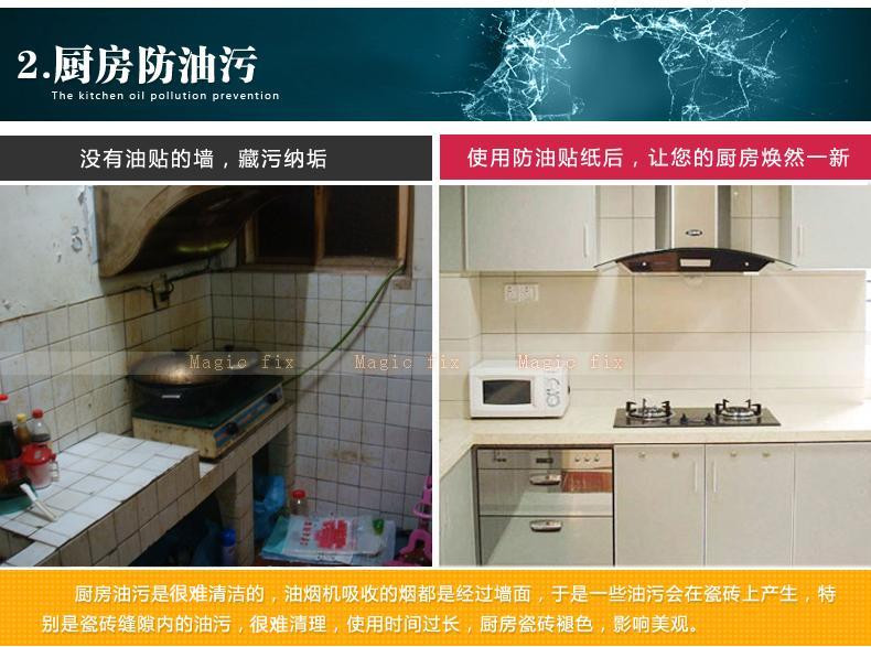 Kitchen Stove Wall Protector  New Resistance High Temperature Lampblack Writers Smeary