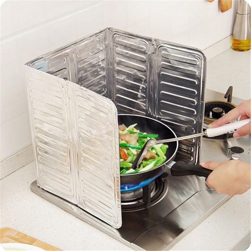 Kitchen Stove Wall Protector  Aluminium Oil Splash Guard Kitchen Wall Gas Stove Cooking