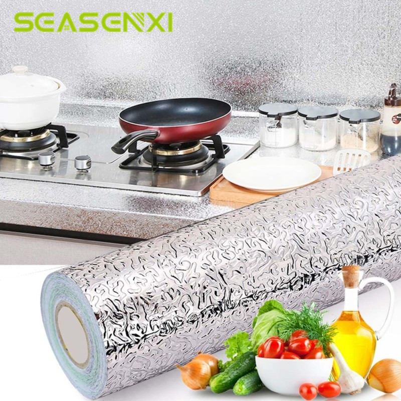 Kitchen Stove Wall Protector  Kitchen Oil Proof Waterproof Sticker Stove Aluminum Foil