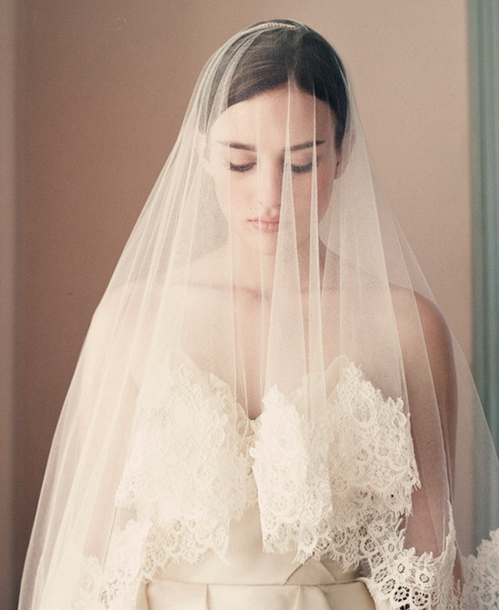 Lace Trim Wedding Veil  Wedding Gown Romance The Story about Enchanting Lace