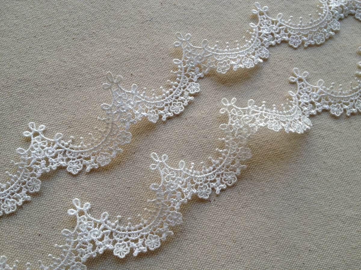 Lace Trim Wedding Veil  2 Yards Pretty Bridal Veils Lace Trim in Ivory For Weddings