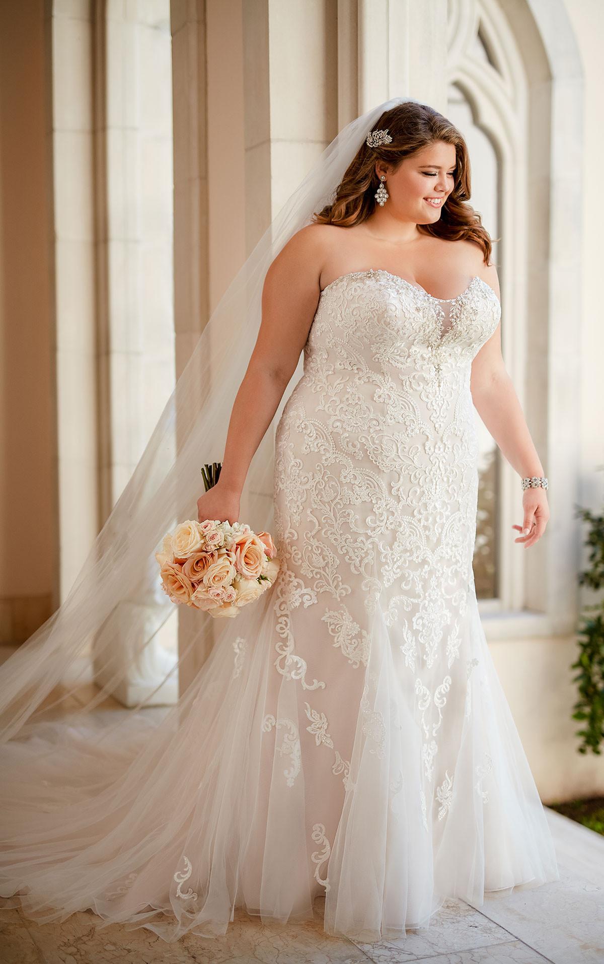 Lace Wedding Gowns  Plus Size Vintage Lace Wedding Dress