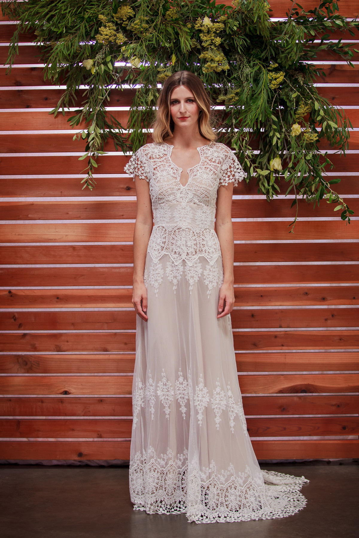 Lace Wedding Gowns  Azalea Boho Cotton Lace Wedding Dress