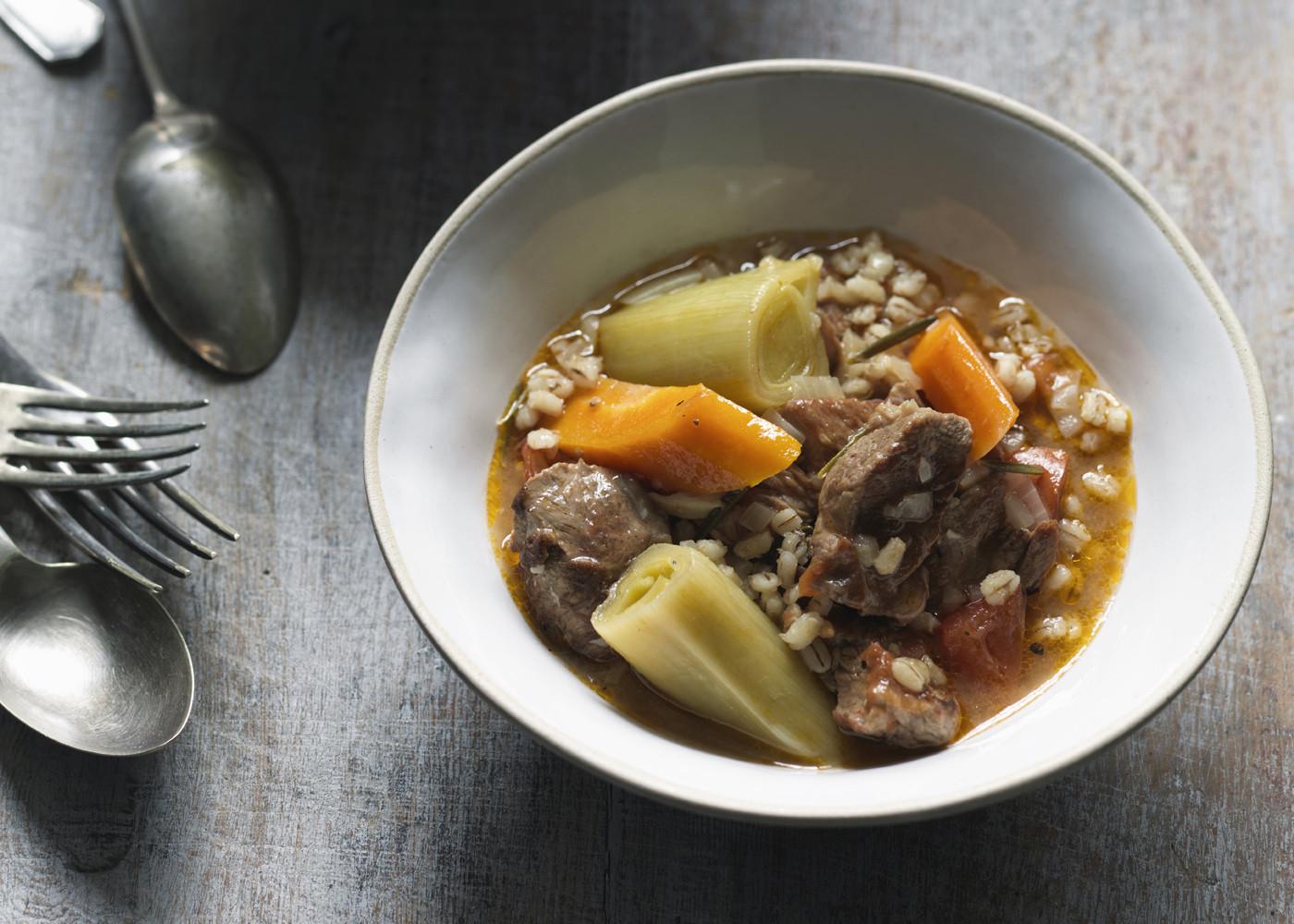 Lamb Barley Stew  French style lamb and barley stew