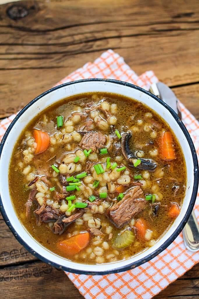 Lamb Barley Stew  slow cooker beef barley stew