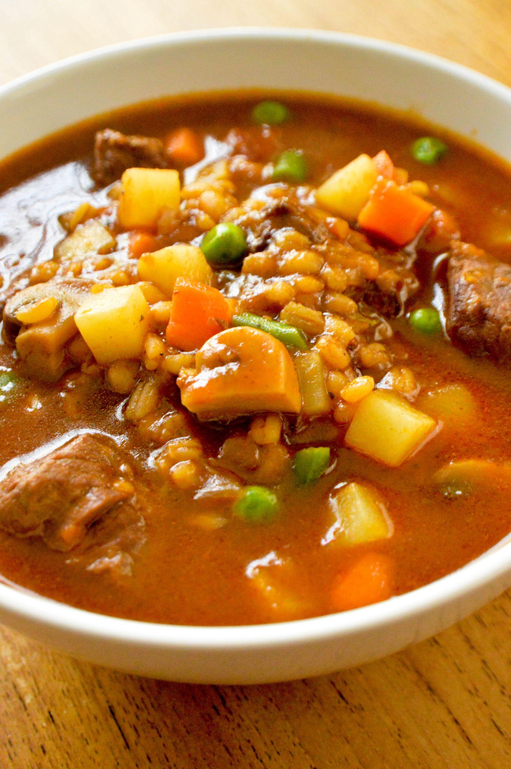 Lamb Barley Stew  Beef and barley stew