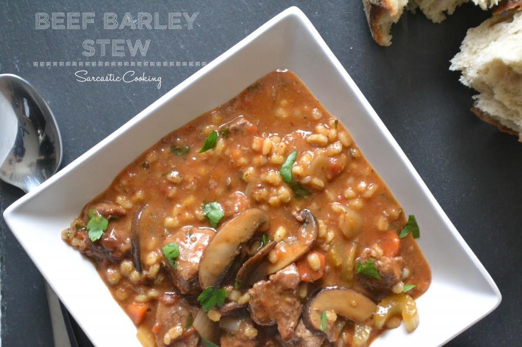 Lamb Barley Stew  Beef Barley Stew