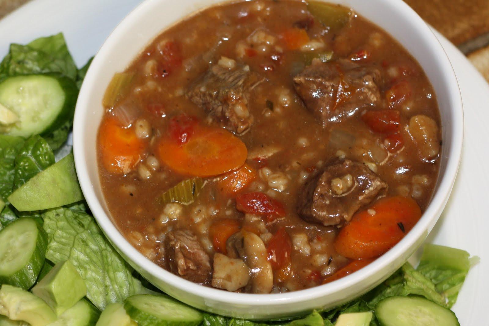 Lamb Barley Stew  Cammy s Kitchen Crockpot Beef Barley Stew