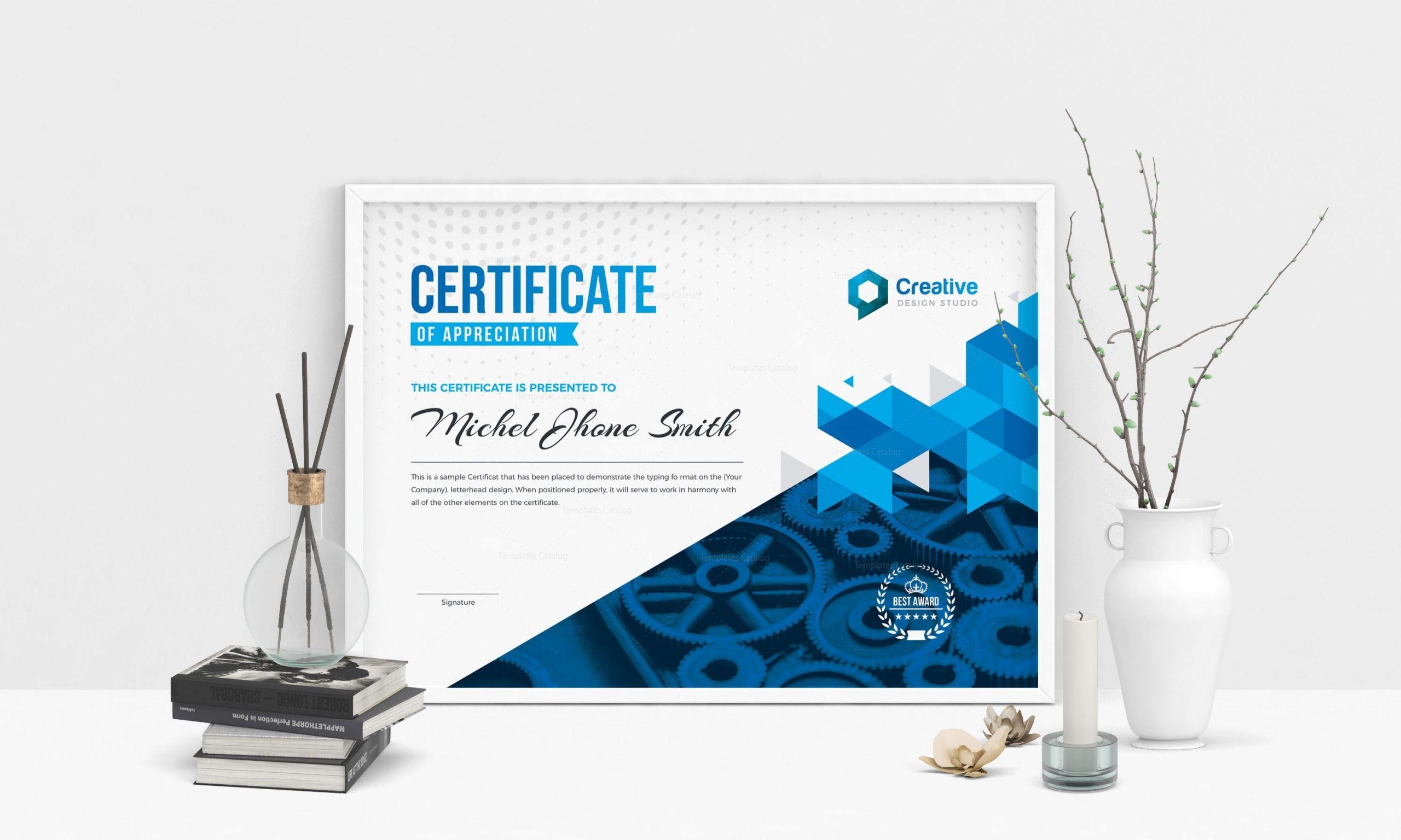 Landscape Design Certification  Professional Landscape Certificate Design Template