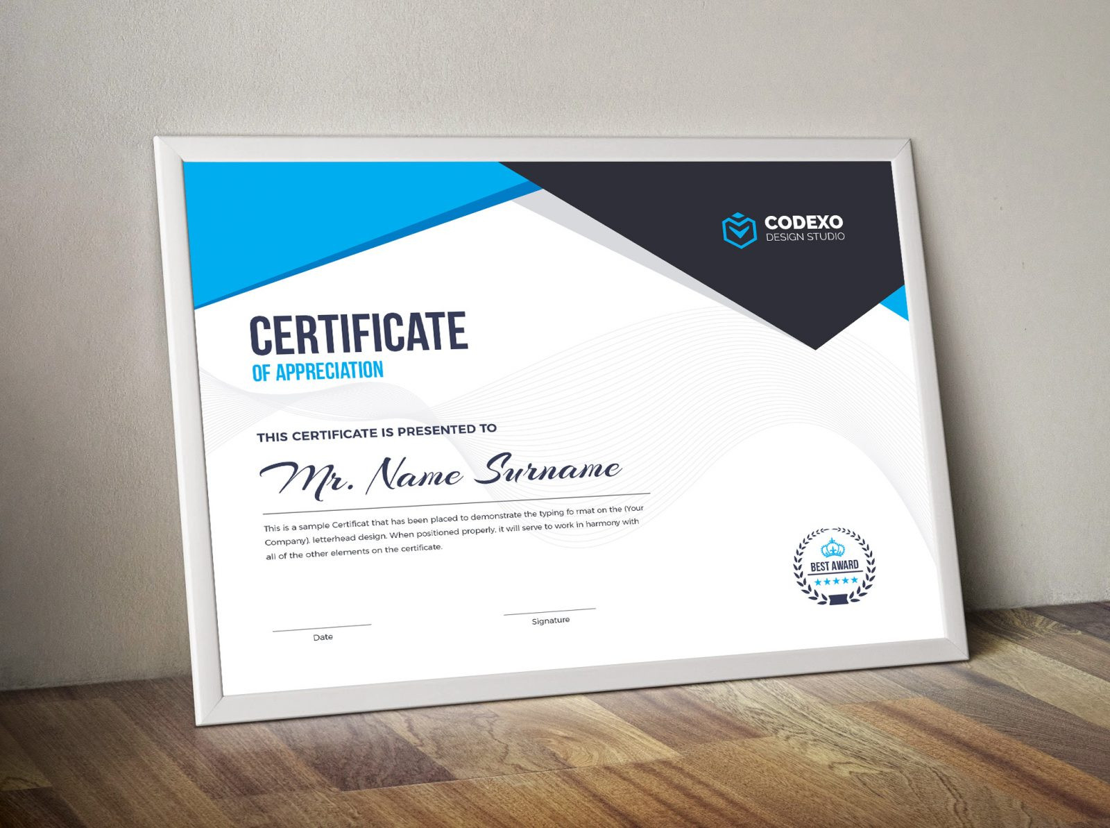 Landscape Design Certification  Nemesis Professional Landscape Certificate Template