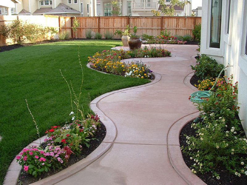 Landscape Designs For Small Yards  Bl Low cost ideas for landscaping Diy
