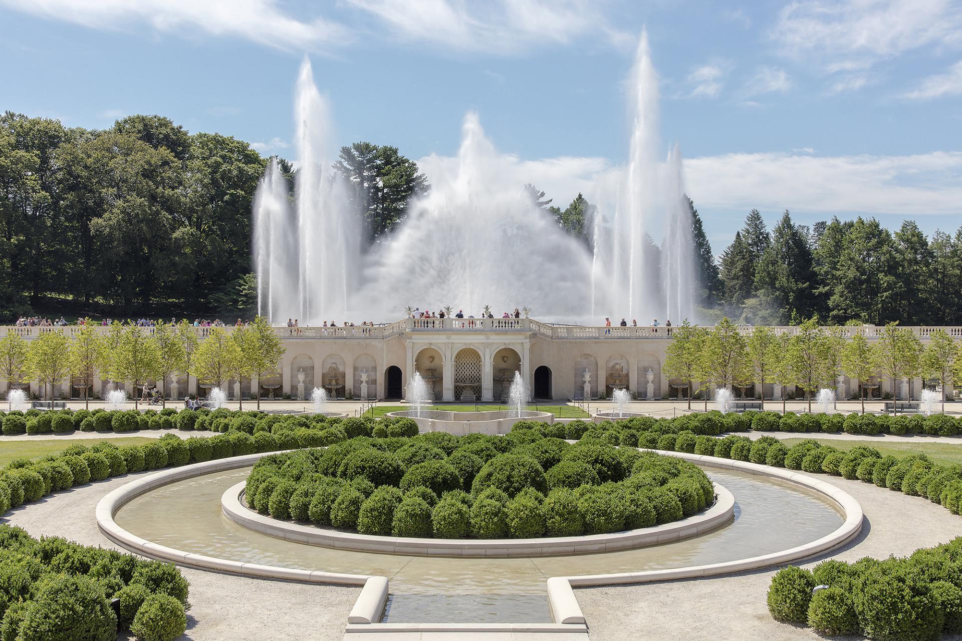 Landscape Fountain Public  The Revitalized Main Fountain Garden at Longwood