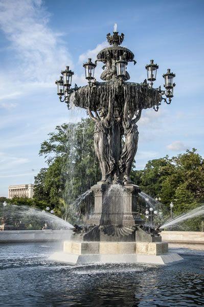 Landscape Fountain Public  Bartholdi Fountain DC