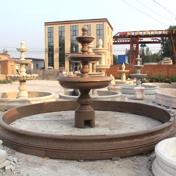 Landscape Fountain Public  Classical design marble carving 3 tiers garden water