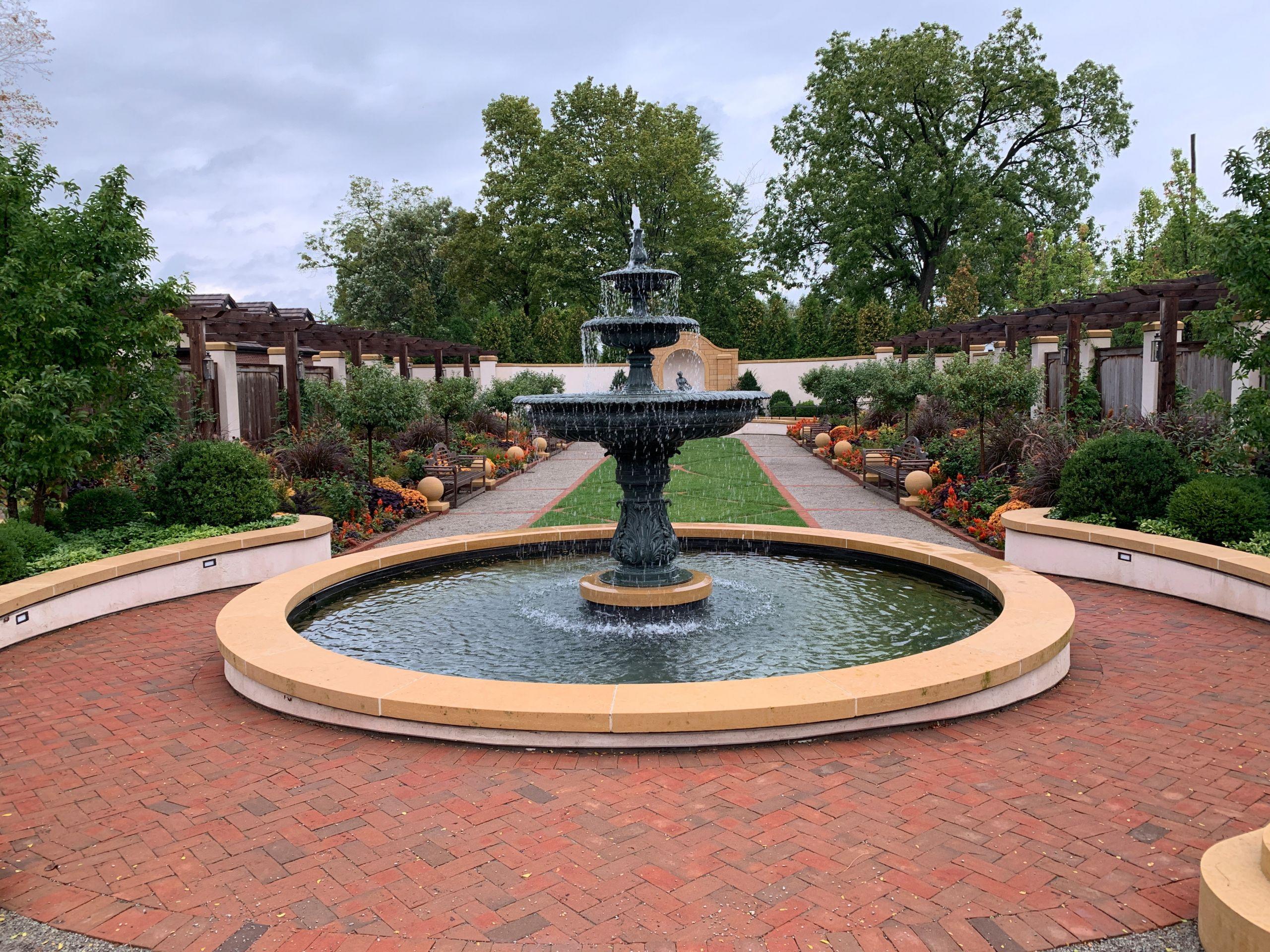Landscape Fountain Public  Fountain in the garden image Free stock photo Public