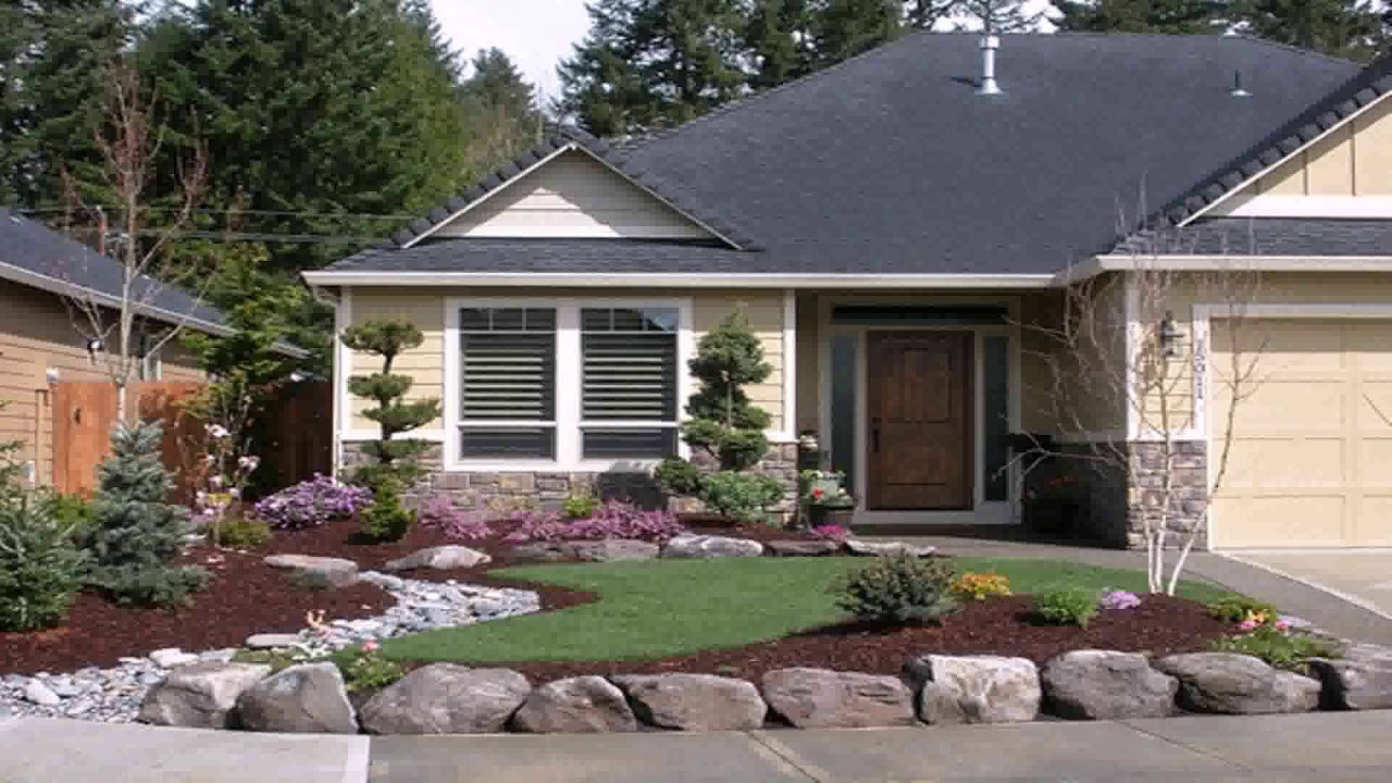 Landscape Ideas For Front Yard  Small Front Yard Landscaping Ideas Rocks see description