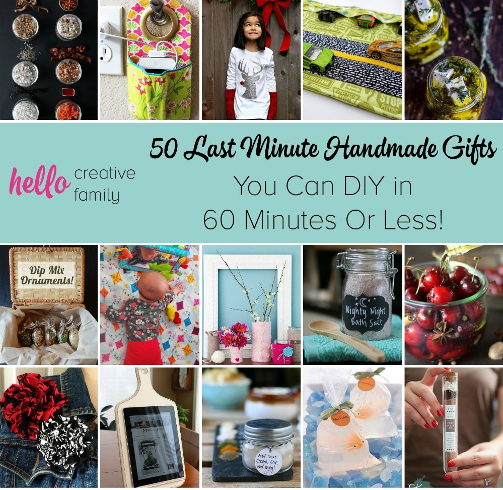 Last Minute Birthday Gifts For Mom  50 Last Minute Handmade Gifts You Can DIY in 60 Minutes