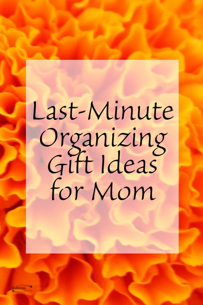 Last Minute Birthday Gifts For Mom  Last Minute Organizing Gift Ideas for Mom
