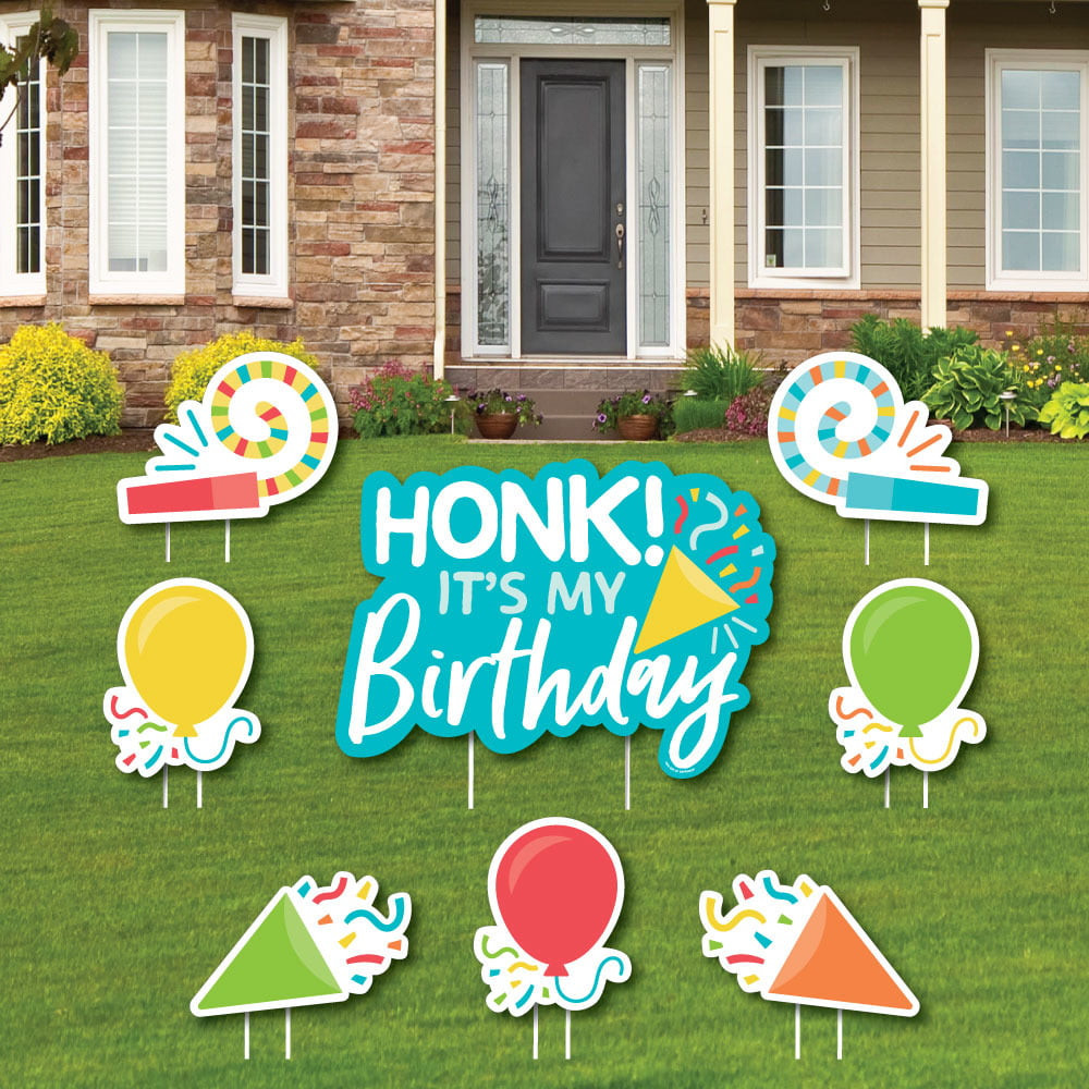 Lawn Decorations For Birthday  Honk It's My Birthday Yard Sign and Outdoor Lawn