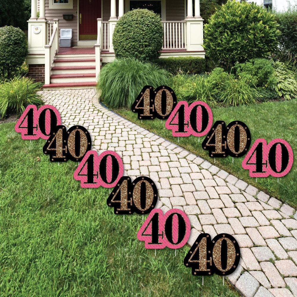 Lawn Decorations For Birthday  40th Birthday Lawn Decorations Outdoor Birthday Party