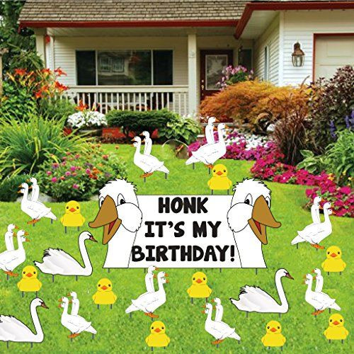 Lawn Decorations For Birthday  81 best Birthday Lawn Signs images on Pinterest