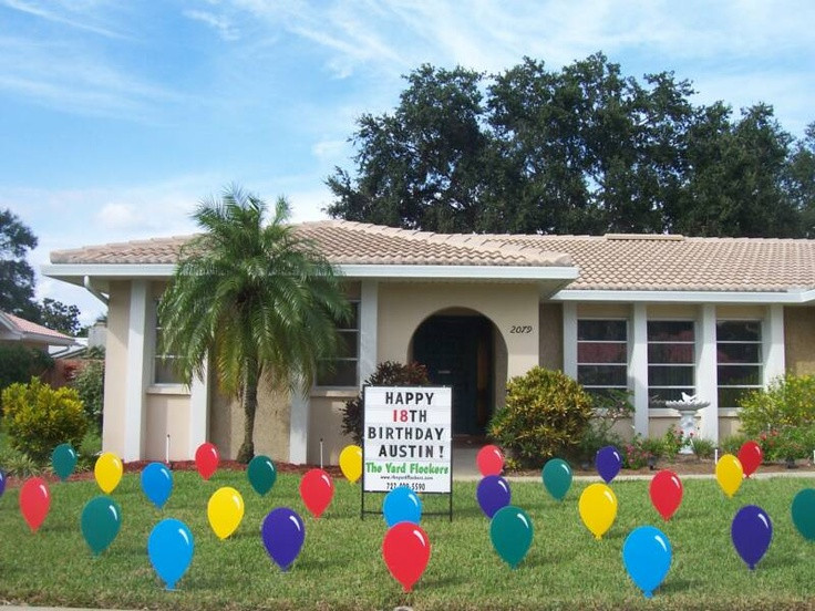 Lawn Decorations For Birthday  23 best images about Lawn Event Signs on Pinterest