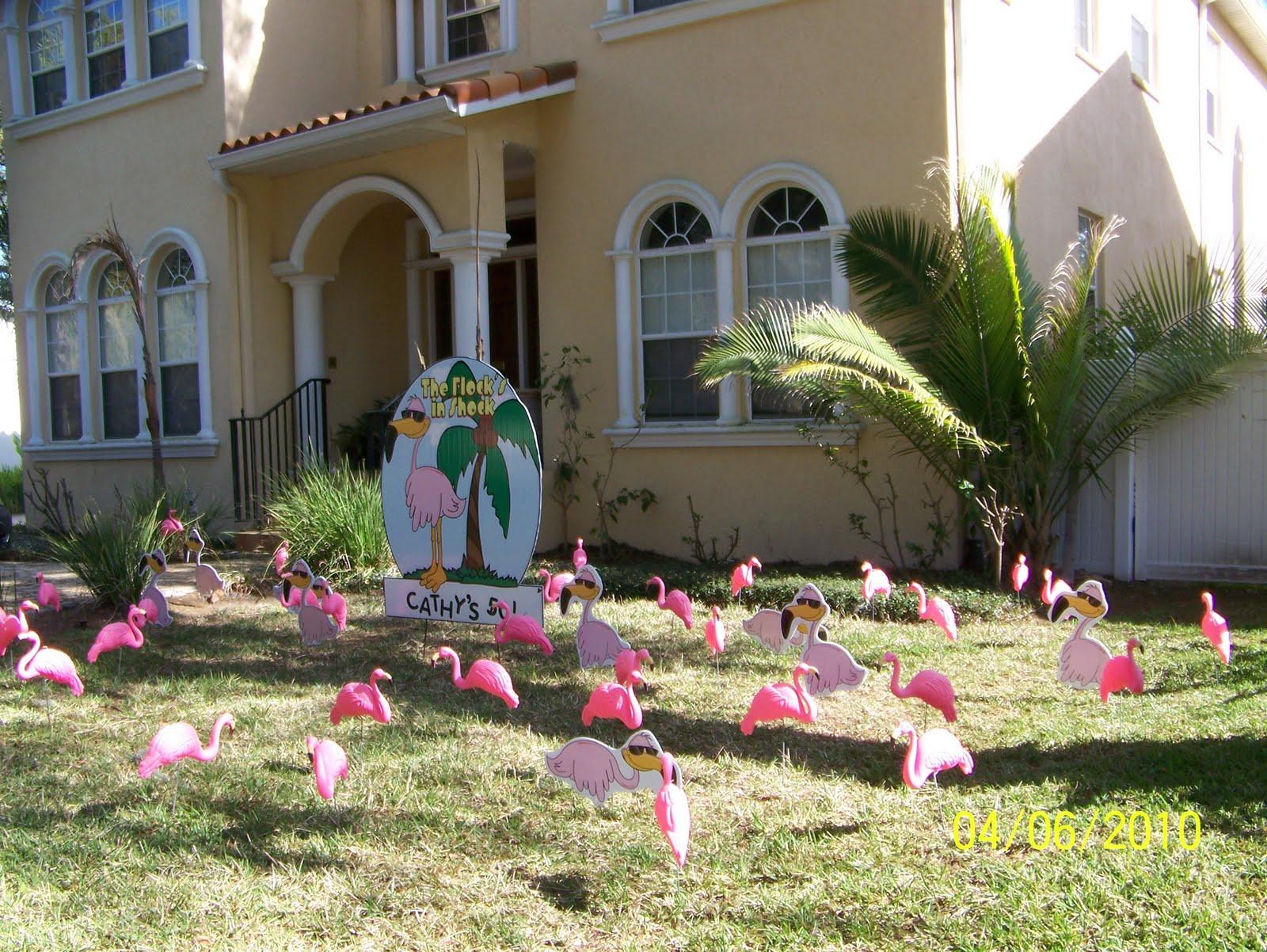 Lawn Decorations For Birthday  FLOCK N SURPRISE 727 687 8111 LARGO Florida