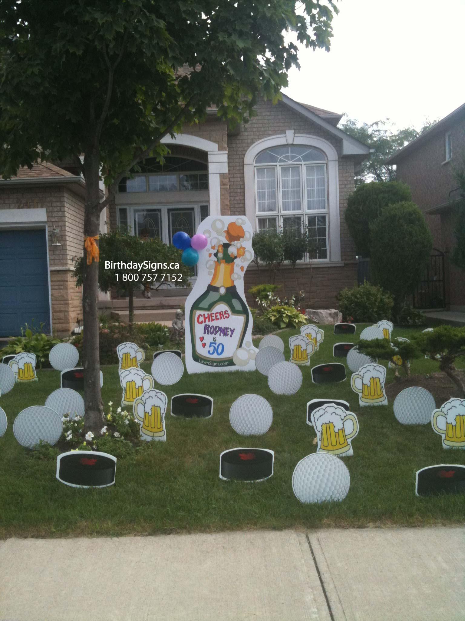 Lawn Decorations For Birthday  Birthday Yard Signs Lawn Greetings