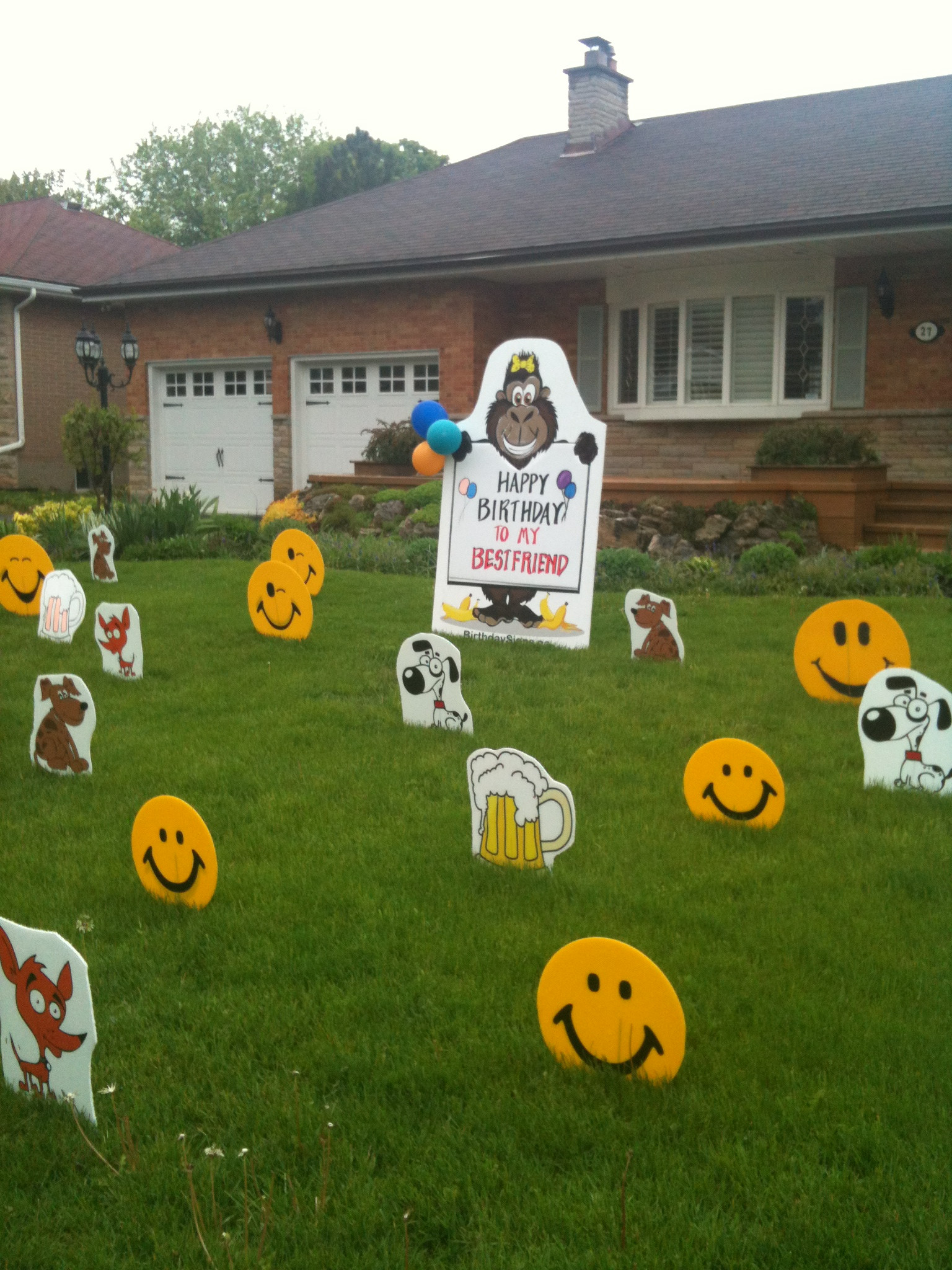 Lawn Decorations For Birthday  Lawn Signs for Birthdays