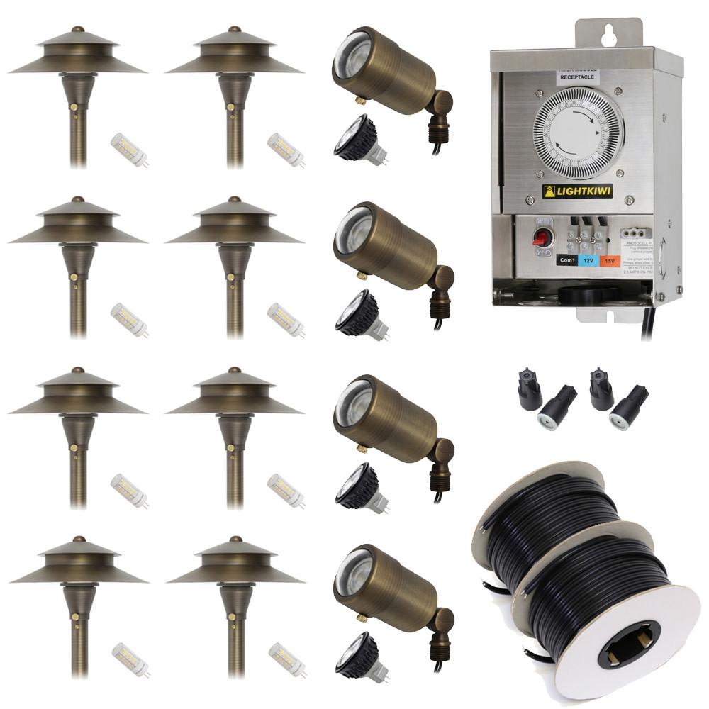 Led Landscape Lighting Kit  low voltage led landscape lighting kit 4 macro spotlight 8