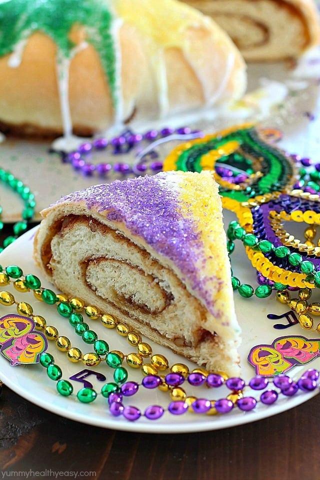 Mardi Gras King Cake Recipe  Mardi Gras King Cake Yummy Healthy Easy