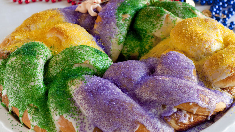Mardi Gras King Cake Recipe  Quick Mardi Gras King Cake Recipe BettyCrocker