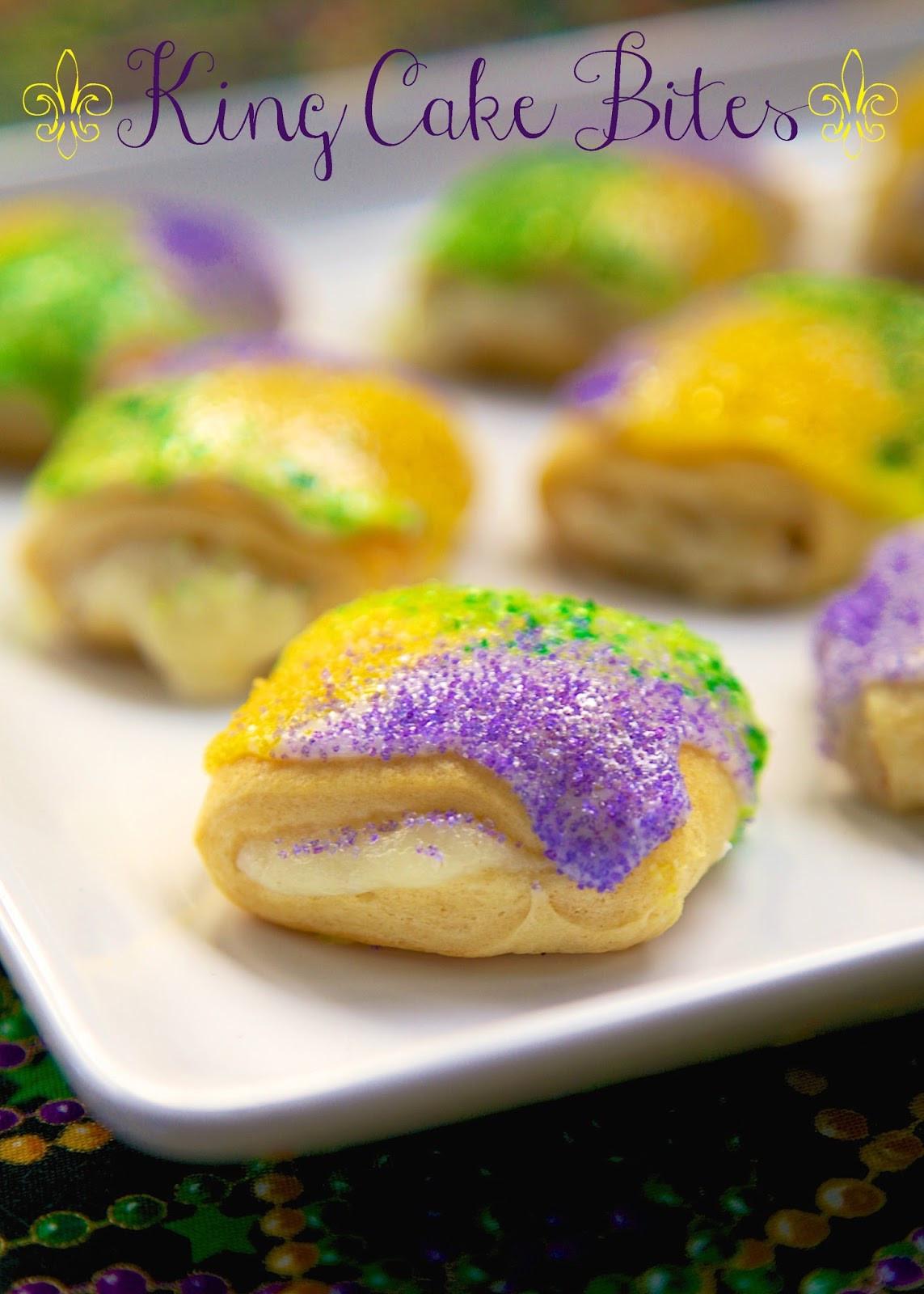 Mardi Gras King Cake Recipe  King Cake Bites