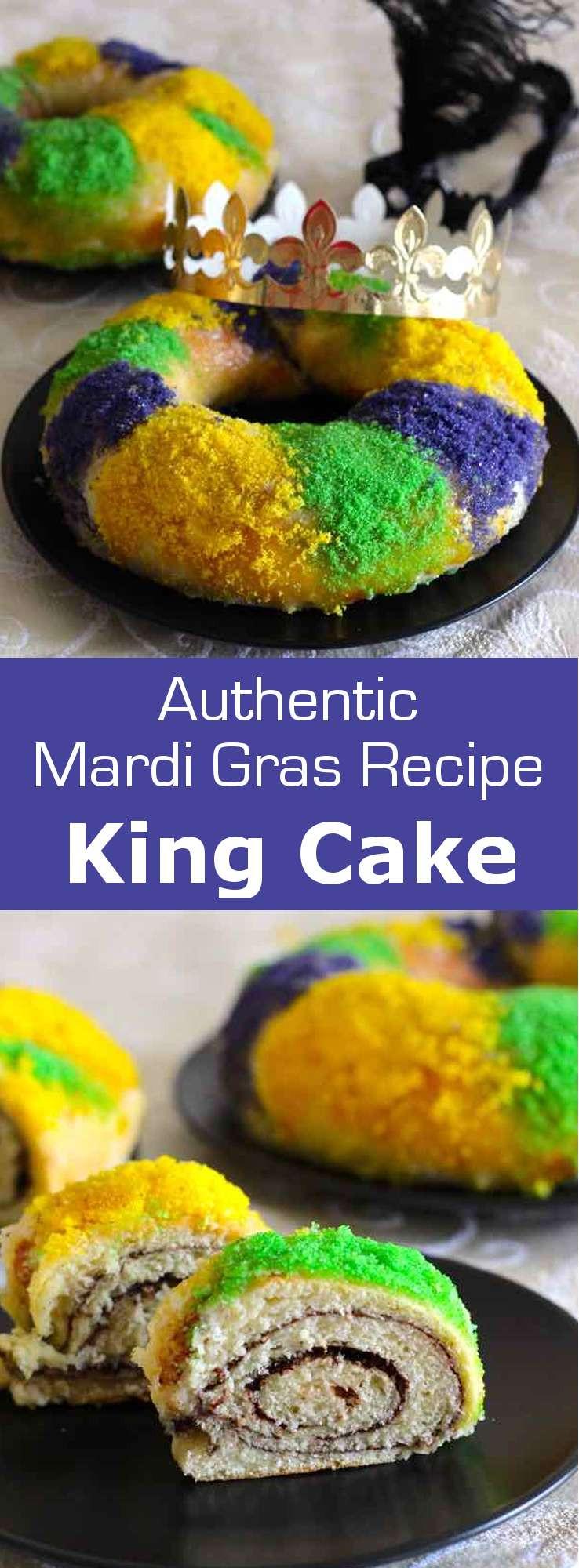 Mardi Gras King Cake Recipe  King Cake Traditional Mardi Gras Recipe