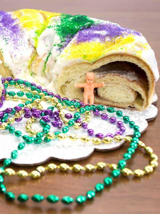 Mardi Gras King Cake Recipe  Mardi Gras King Cake Bread Machine Pudge Factor