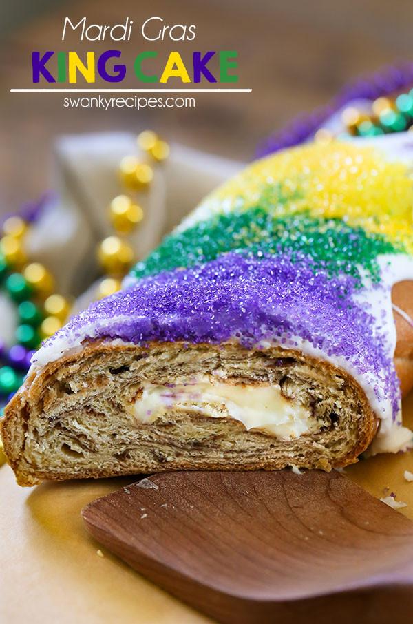 Mardi Gras King Cake Recipe  Mardi Gras Cream Cheese King Cake Swanky Recipes