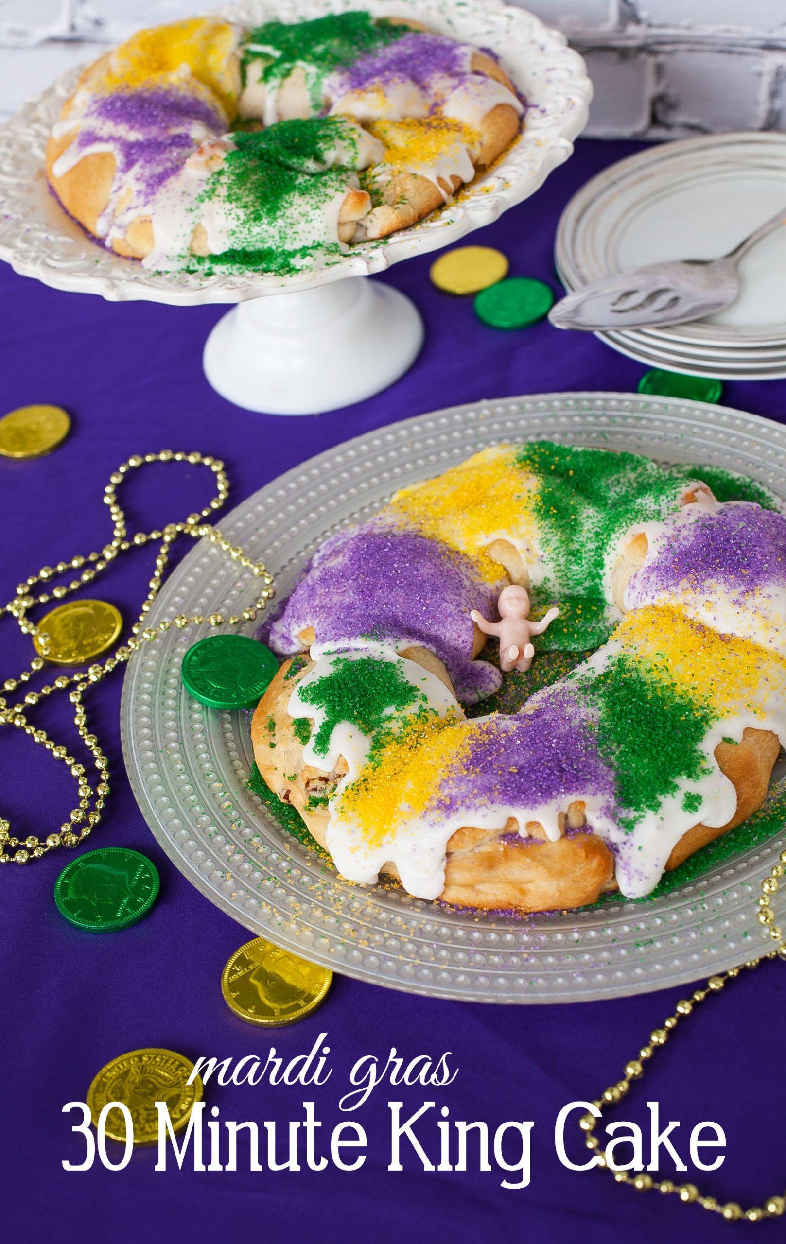 Mardi Gras King Cake Recipe  Easy 30 Minute King Cake Recipe for Mardi Gras Frog