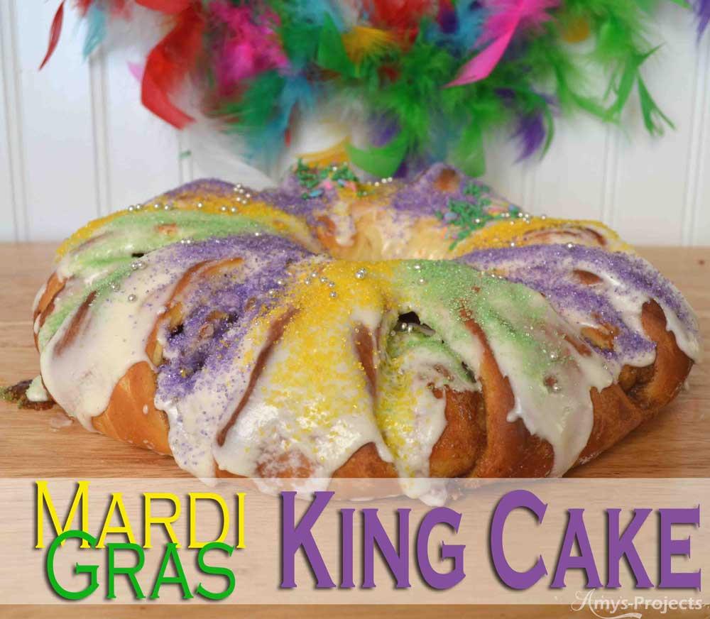 Mardi Gras King Cake Recipe  Homemade Mardi Gras King Cake Recipe Amy s Projects