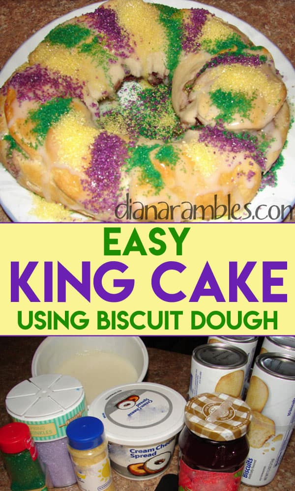 Mardi Gras King Cake Recipe  Easy and Best King Cake Recipe using Refrigerated Dough