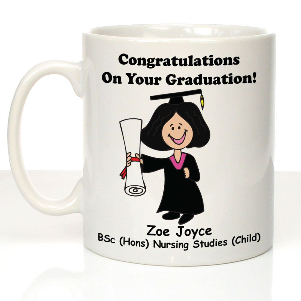 Masters Graduation Gift Ideas For Her  Personalised Girl s Graduation Mug Graduate Gift Ideas