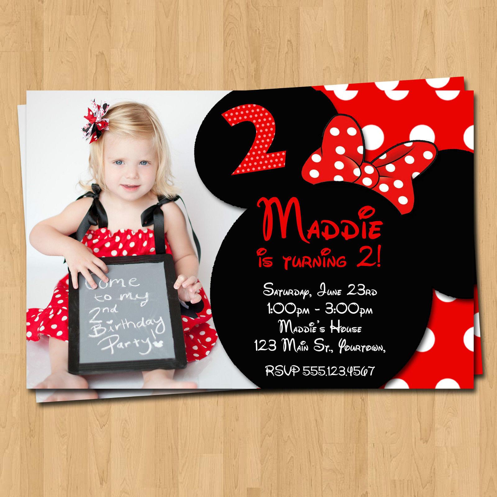 Minnie Birthday Invitations  Free Printable Minnie Mouse Birthday Party Invitations