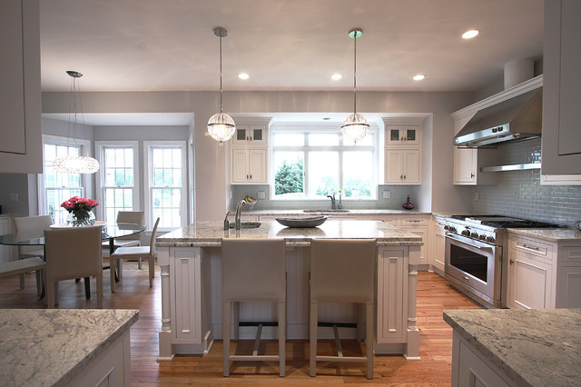 Modern Traditional Kitchen  Contemporary Lighting Classic Design Traditional