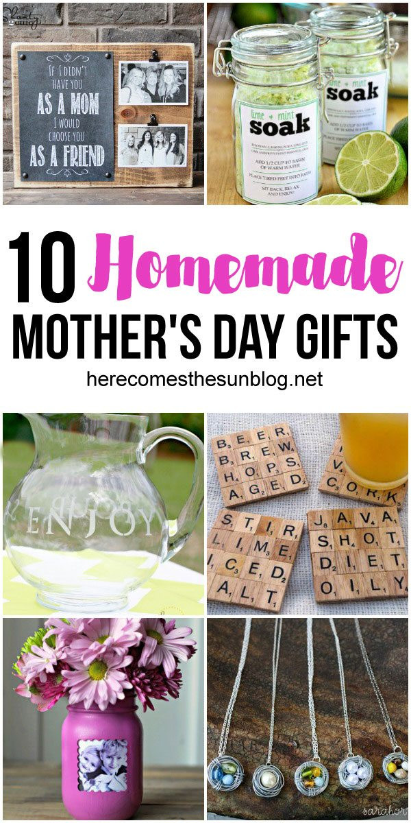 Mother Day Homemade Gift Ideas  10 Homemade Mother s Day Gift Ideas